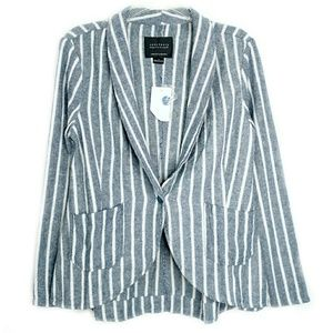 Sanctuary 🆕 Linen Blend Blue Stripe Blazer Jacket
